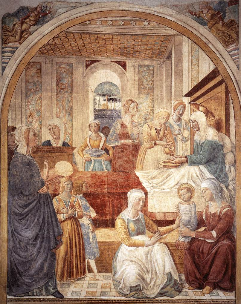 Birth of Mary - Gozzoli